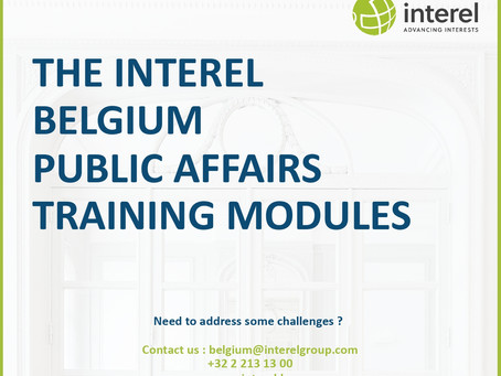 Interel Belgium introduces : The Interel Belgium Public Affairs Training Modules