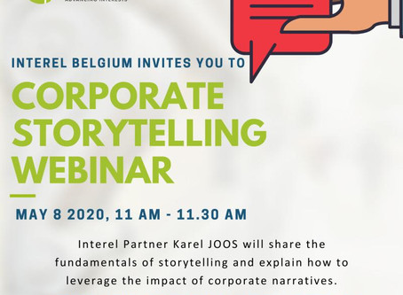 Invitation to watch: Karel Joos' webinar on Corporate Storytelling
