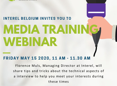 Interel Belgium invites you to Florence Muls' webinar on Media Training