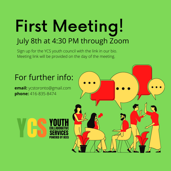 YCS First Meeting on Thursday at 4:30 PM