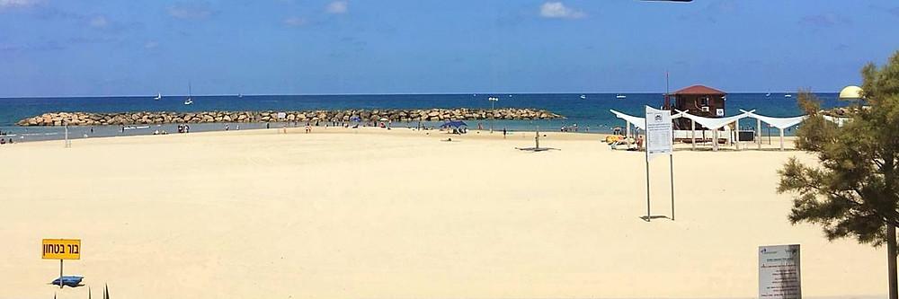 נוף חוף הים הישראלי, צילום גליה בית־אור, יולי 2018