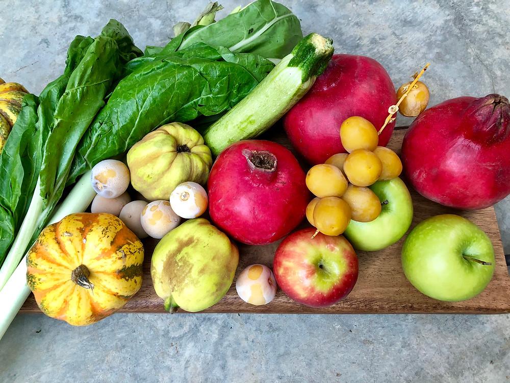 rosh hashana Fruits and Vegetables