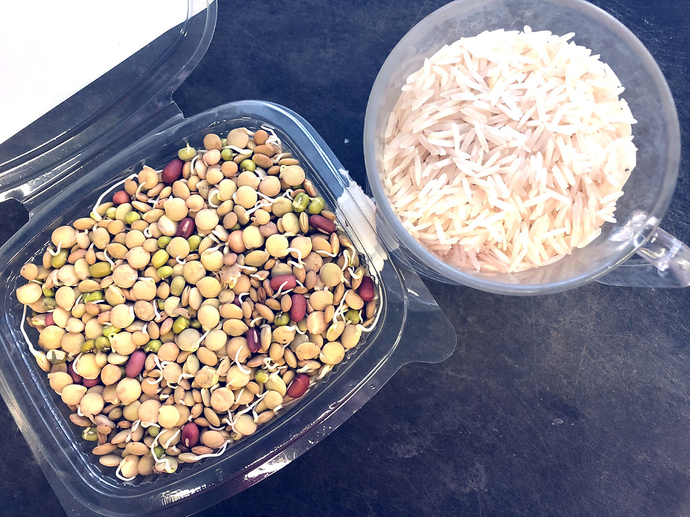 מג'דרה אורז בסמטי ועדשים