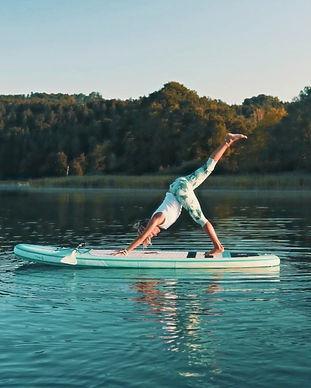 sup yoga stand up paddle yoga mattsee salzburg driftwood by danique lochen gebertsham