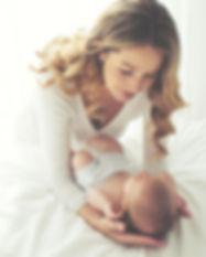 Maman / bébé au nature