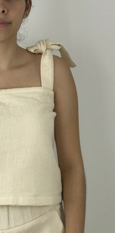 The Mejía Blouse - Handwoven Waffle