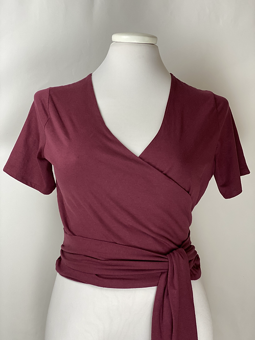 The Renny Recycled Blouse - Color Vino