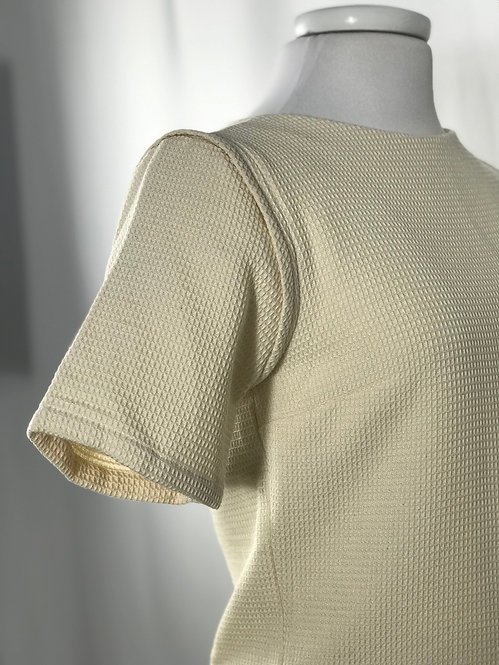 The Nika blouse in Handwoven Waffle