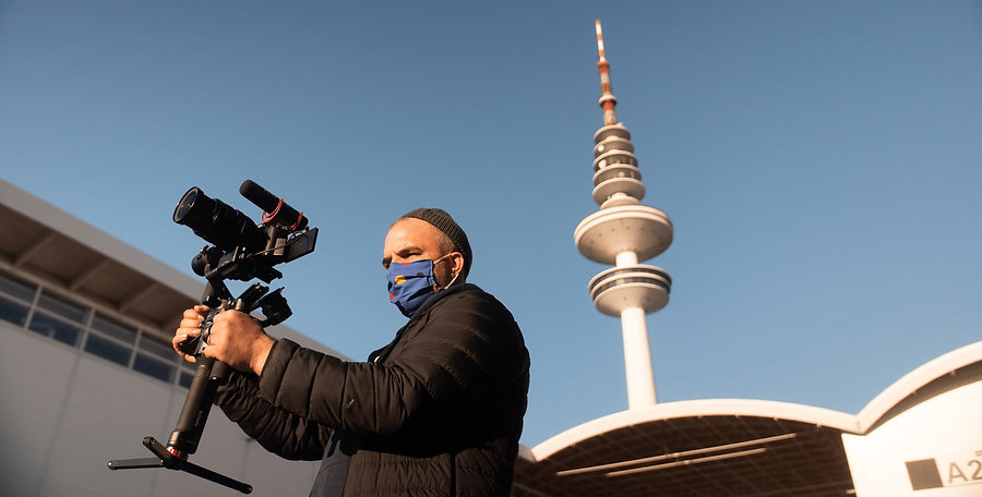 Niklas Lindschau bei der Videoproduktion