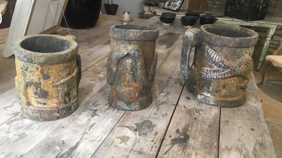 Three Folk Pots