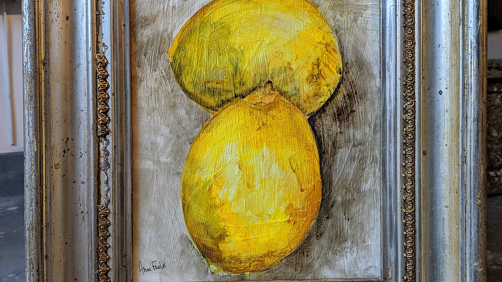 Lemons in Silver - Studio Painting