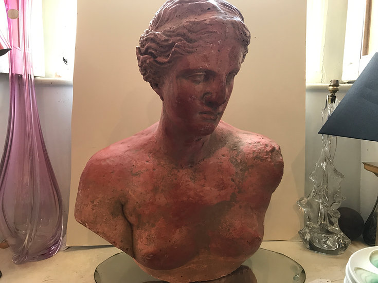 Early French 20th century Terracotta Female Bust 1920