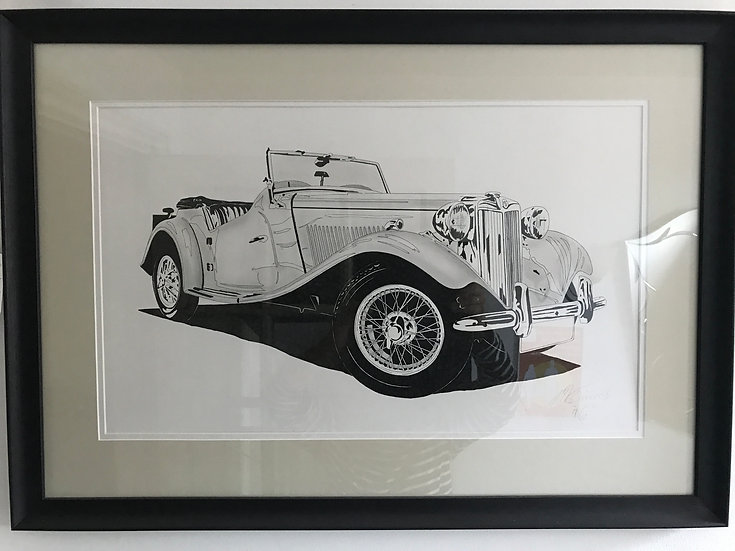 MG Ink Picture Signed And Dated 1996