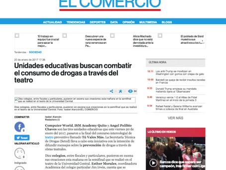 Unidades Educativas buscan combatir el consumo de drogas a través del Teatro