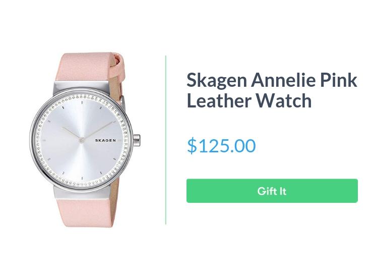 """Skagen Women's Annelie watch, $125.00, with """"Gift It"""" button"""