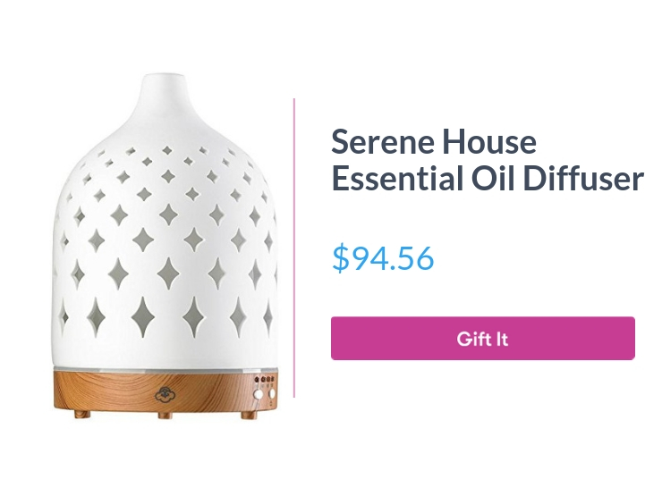 """Serene House Supernova 125 Large - Ceramic Cover Essential Oil Diffuser, $94.56, with """"Gift It"""" button"""