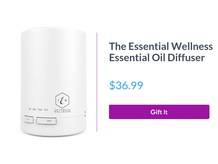 """The Essential Wellness essential oil diffuser, $36.99, with """"Gift It"""" button"""