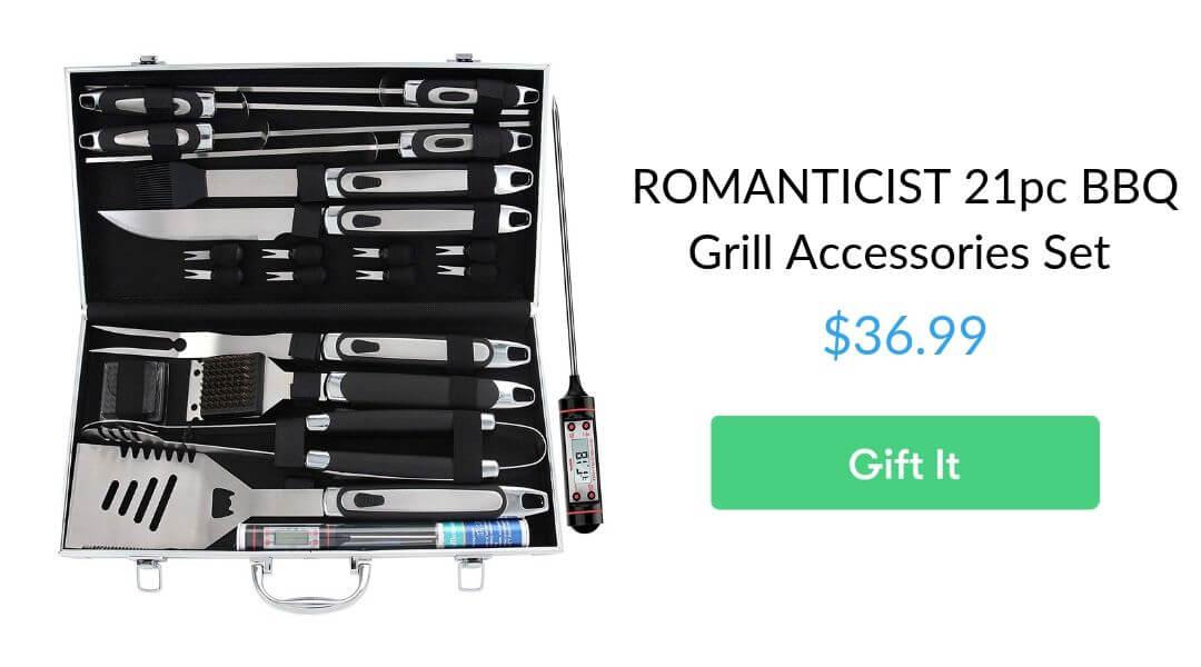 Romanticist 21pc BBQ grill accessories set