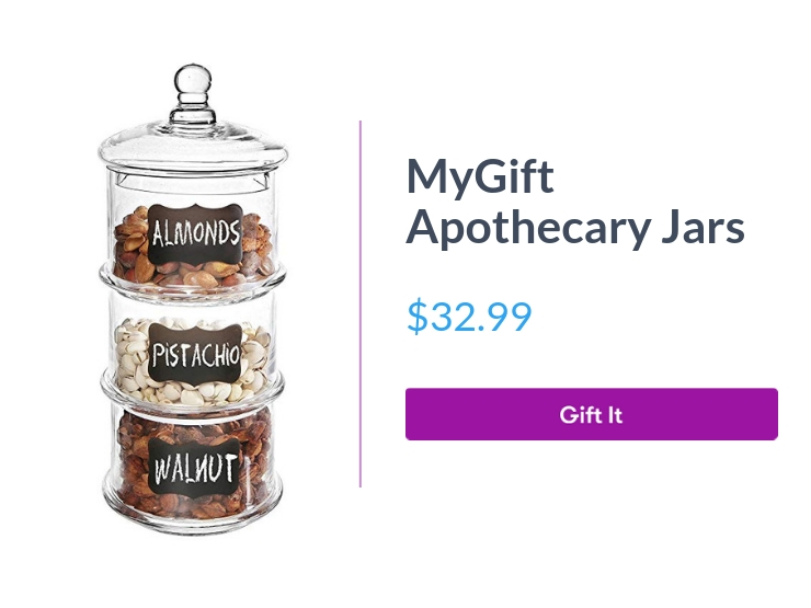 """MyGift apothecary jars, 3-piece, $32.99, with """"Gift It"""" button"""
