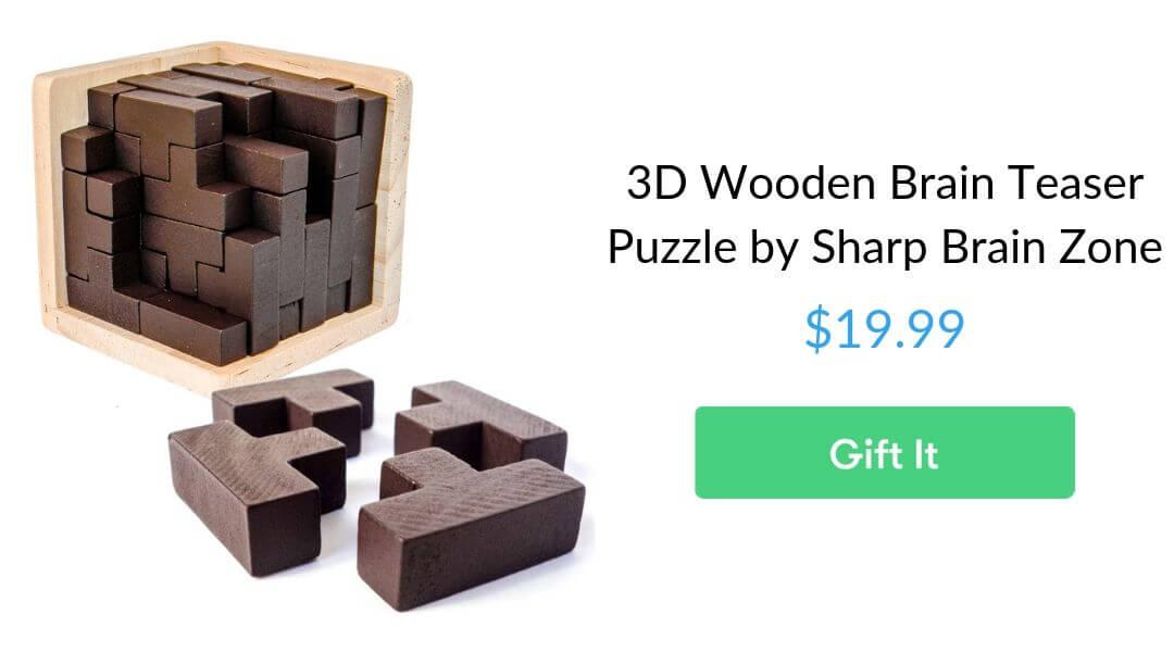 3D Wooden Brain Teaser Puzzle by Sharp Brain Zone