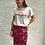 Thumbnail: Pink oriental printed pencil skirt