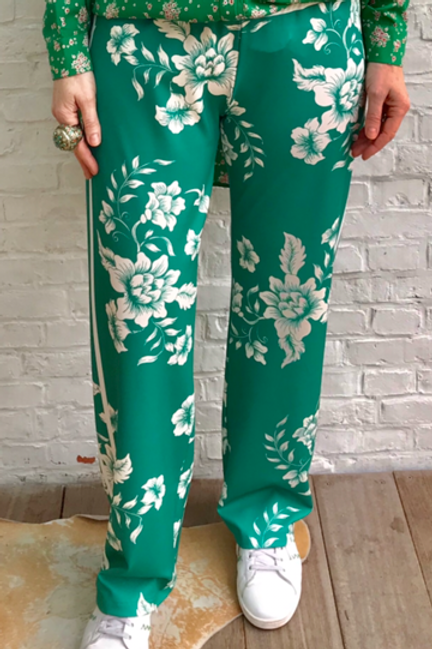 Flower Printed Track Pants