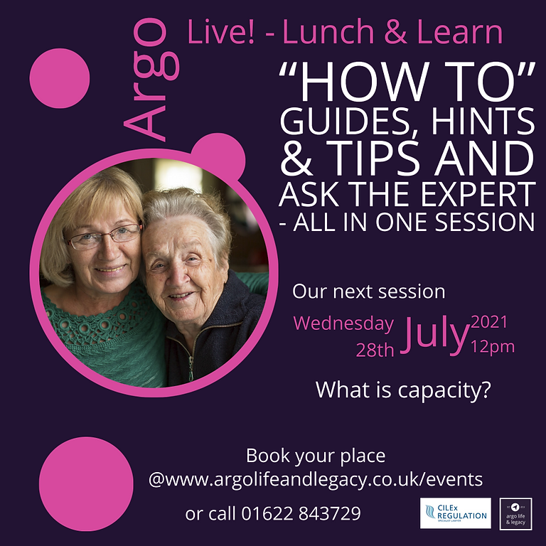 Argo Live - Lunchtime Learning Session- What is Capacity?