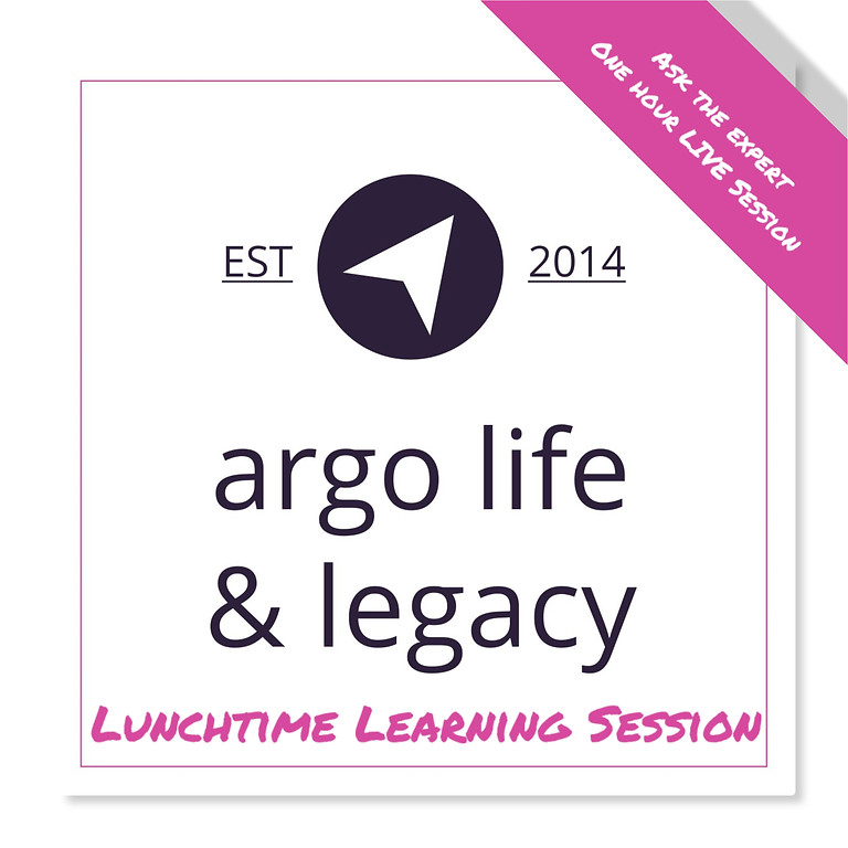 Argo Live - Lunchtime Learning Session- 5 things to think about when caring for someone