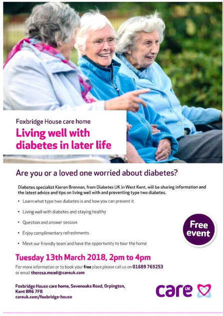Living well with diabetes in later life event