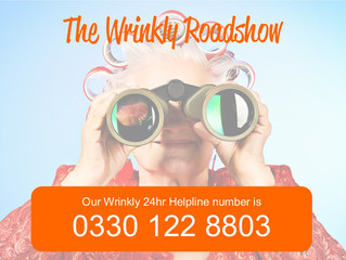 Our NEW Wrinkly Helpline Launch!