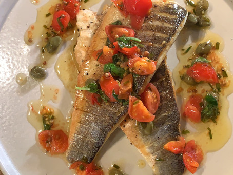 Quick and Easy Sea Bass with Sauce Vierge