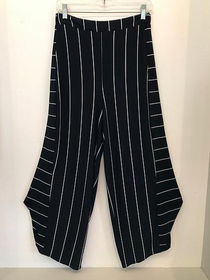 LV Black Pinstripe Pant