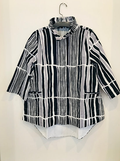 Snapdragon and Twig Striped Shirt/Jacket