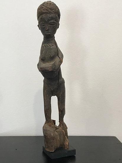 Small Wood Statue of a Woman: Yoruba