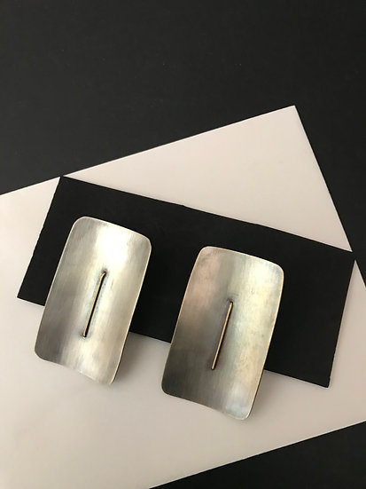 Rectangle Shield EARRINGS
