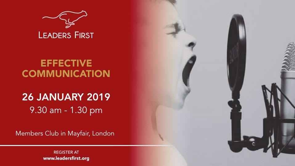 Effective Communication - 26 January 2019, London