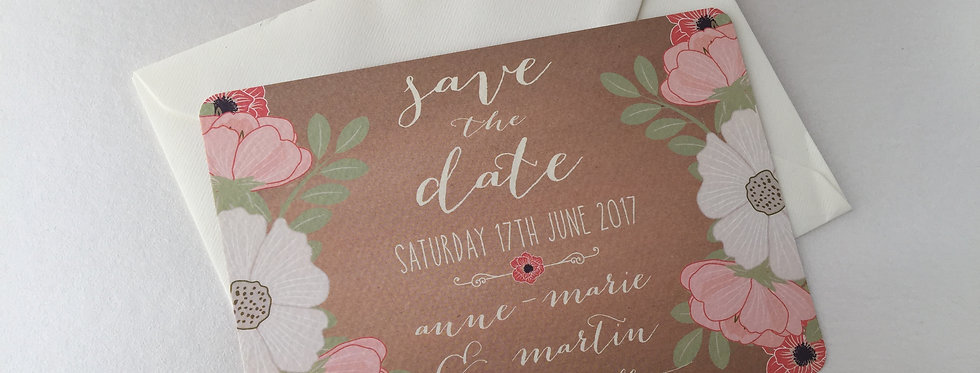 Rustic Floral Save the Date