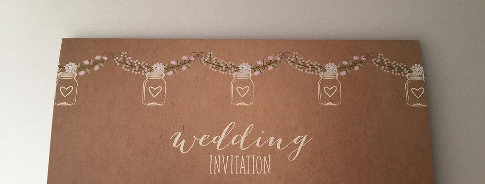TRI FOLD JARS Wedding Invitation