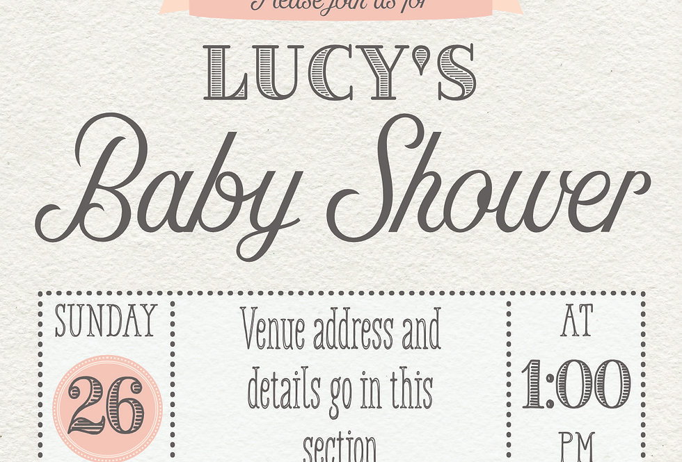 Peter Rabbit Floral Baby Shower Invitations