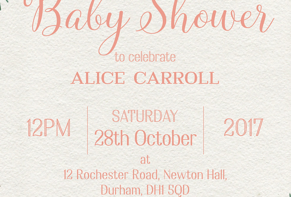 FLORENCE Baby Shower Invitation