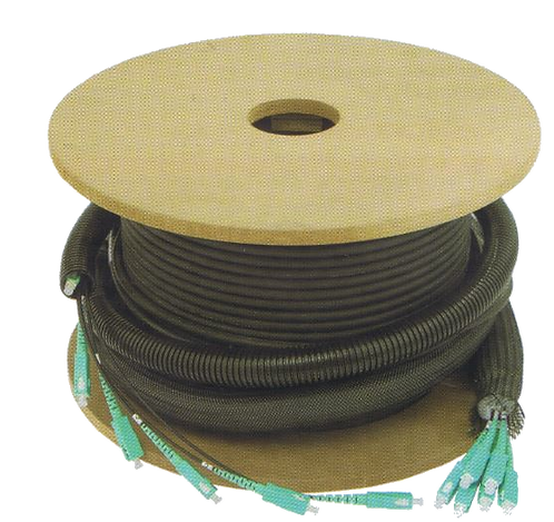Câble préconnectorisé - OS2 12 fibres SC/SC - 150m