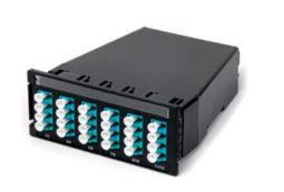 Cassette MPO 1x24 fibres vers 12 LC duplex - 50/125 OM4 Optimate - Croisée