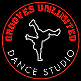 Grooves Logo Round black background and
