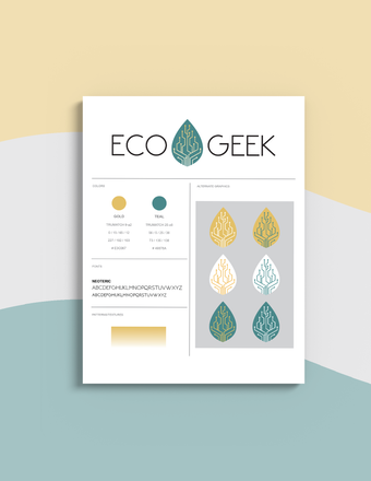 ecoGeek Logo Design and Style Guide