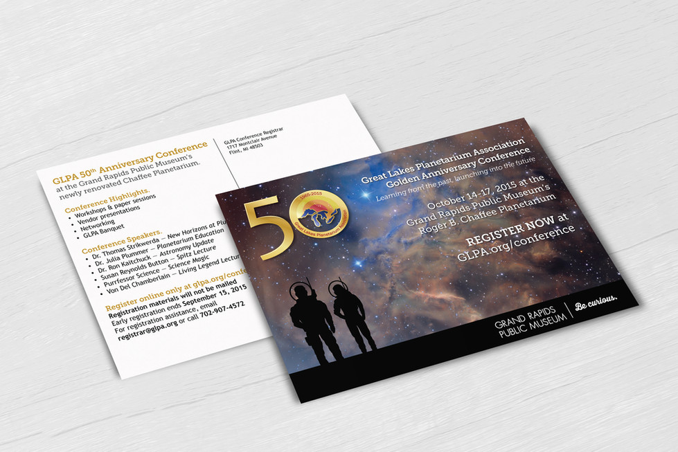 Conference Invitation Postcard