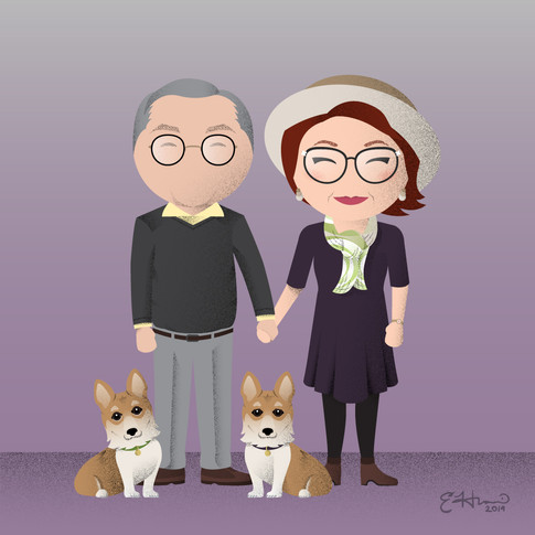 David, Susan, George, and Trixie