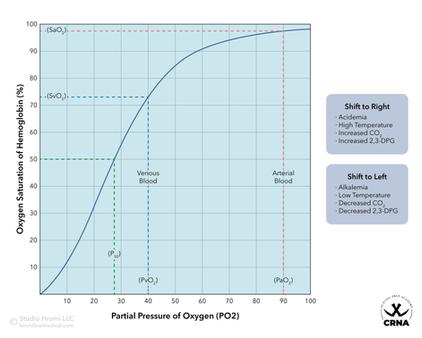 Oxyhemoglobin Dissociation Curve
