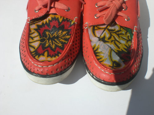 Summer Prints/ (A/P) Loafers/ Coral Leather