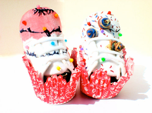 Food Court/Strawberry Cupcake/ Baby Boots 0-6