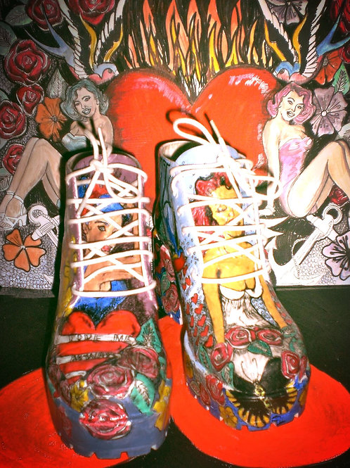 Gill and Jane Painted Boots
